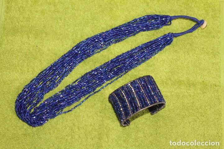 COLLAR Y PULSERA DE PIEDRITAS DE CRISTAL (Joyería - Collares Antiguos)