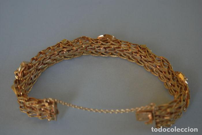 Joyeria: Exclusiva pulsera de oro de 18 Kt. con decoraciones florales - Foto 7 - 210944880