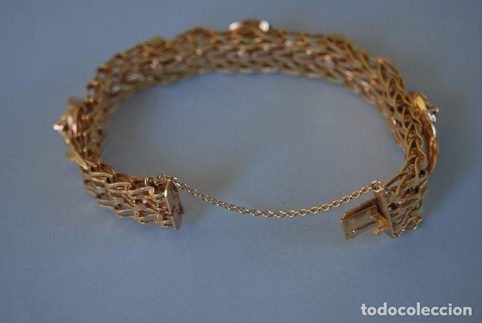 Joyeria: Exclusiva pulsera de oro de 18 Kt. con decoraciones florales - Foto 10 - 210944880