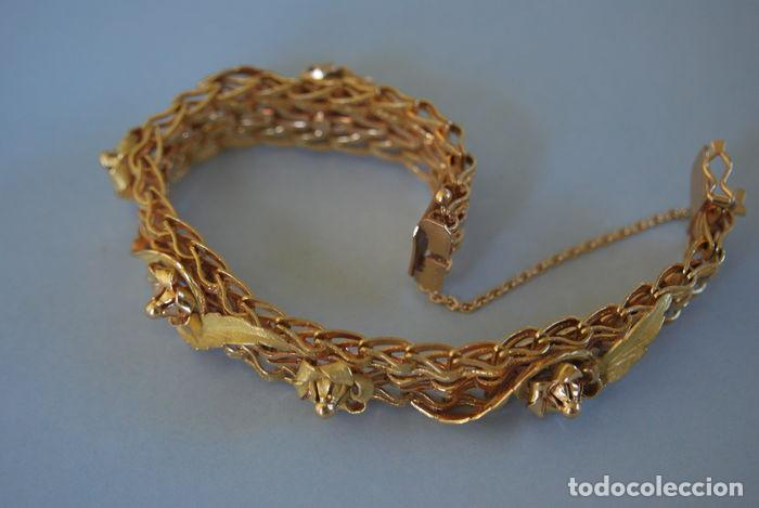 Joyeria: Exclusiva pulsera de oro de 18 Kt. con decoraciones florales - Foto 15 - 210944880