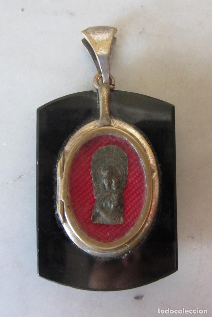 Joyeria: colgante guardapelo relicario siglo XIX - Foto 2 - 84650548