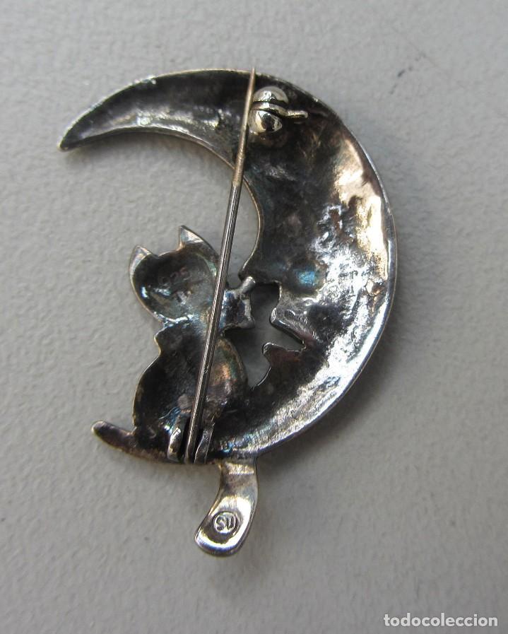 Joyeria: broche el gato y la luna plata sellada y firmada - Foto 2 - 84650972