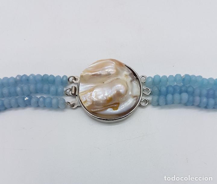 Joyeria: Magnífica gargantilla de esmeraldas, rubies y aguamarinas naturales facetadas, y perla barroca . - Foto 6 - 84831604