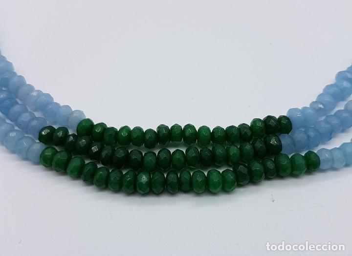 Joyeria: Magnífica gargantilla de esmeraldas, rubies y aguamarinas naturales facetadas, y perla barroca . - Foto 7 - 84831604
