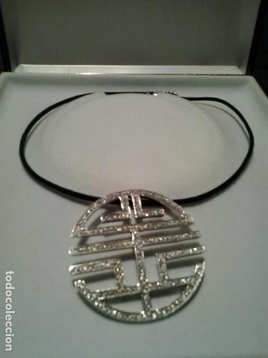 Joyeria: Colgante plata y circonitas .Simbolo longevidad. contraste, 5 cm diametro con cordon - Foto 3 - 140172888