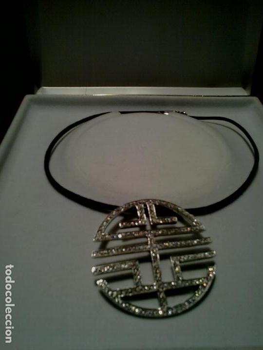 Joyeria: Colgante plata y circonitas .Simbolo longevidad. contraste, 5 cm diametro con cordon - Foto 4 - 140172888