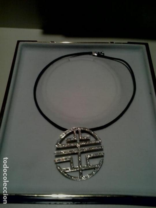 Joyeria: Colgante plata y circonitas .Simbolo longevidad. contraste, 5 cm diametro con cordon - Foto 5 - 140172888