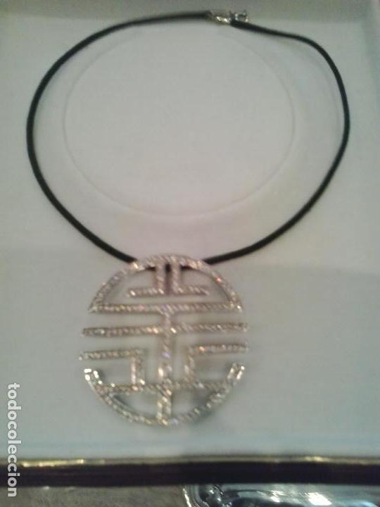 Joyeria: Colgante plata y circonitas .Simbolo longevidad. contraste, 5 cm diametro con cordon - Foto 6 - 140172888