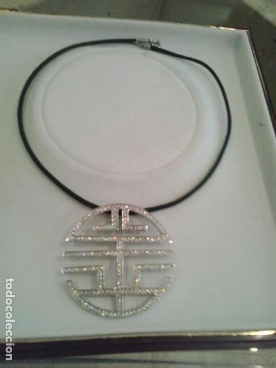 Joyeria: Colgante plata y circonitas .Simbolo longevidad. contraste, 5 cm diametro con cordon - Foto 7 - 140172888