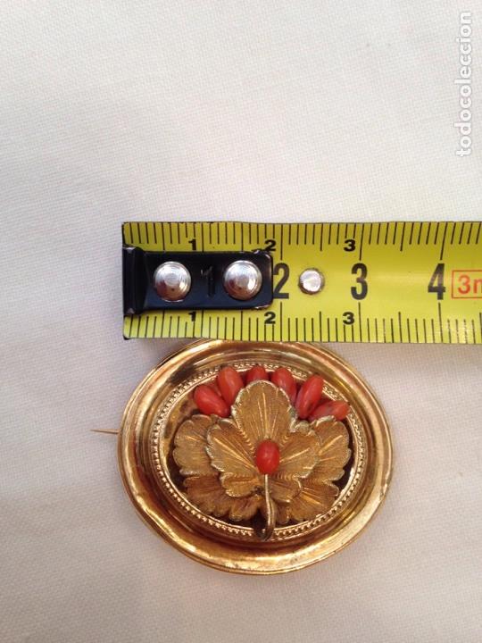 Joyeria: Pendientes y broche de coral y oro bajo del siglo XIX - Foto 8 - 86094602