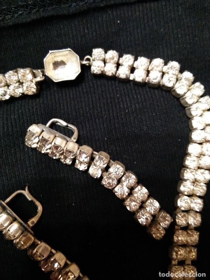 Joyeria: collar y pendientes cristal checo años 50 - Foto 2 - 86628568