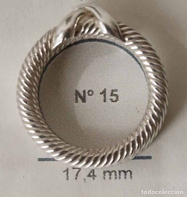 Joyeria: ANILLO DE PLATA MACIZA EN FORMA DE CORDONCILLO DOBLE. 7,7 GRAMOS. Nº ANILLERO APROX 15-16. VER FOTOS - Foto 9 - 86872668