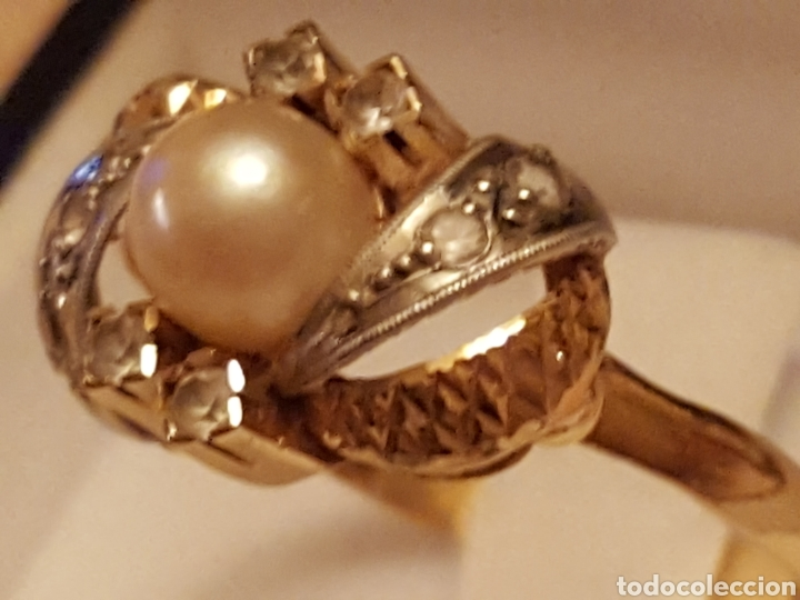 Joyeria: Anillo perla oro 18k, - Foto 3 - 87033298