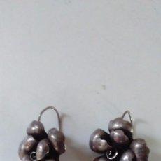 Joyeria - Pareja de pendientes antiguos de plata con forma de flor - 87220968
