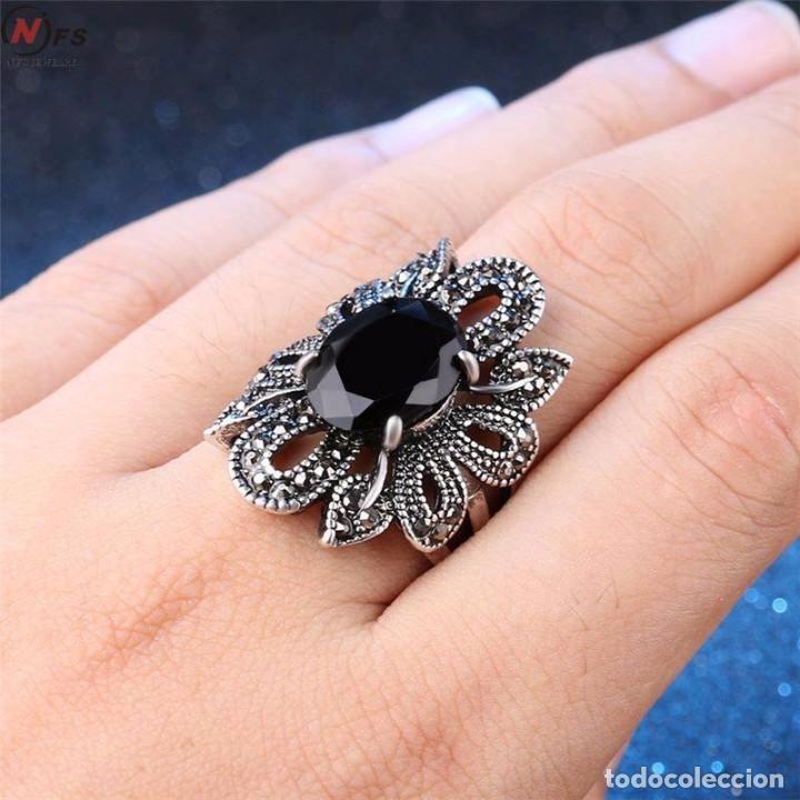 4dffa47ebba8 Anillo de diseño con agata negro