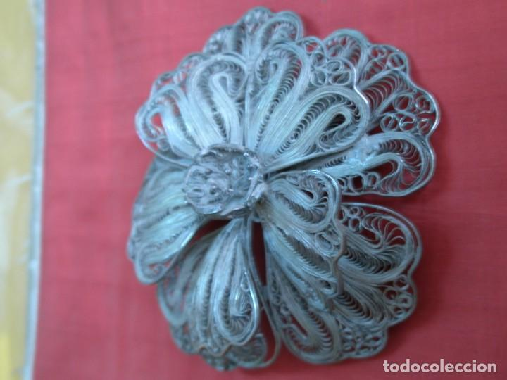 Joyeria: Broche floral de filigrana - Foto 2 - 87486104