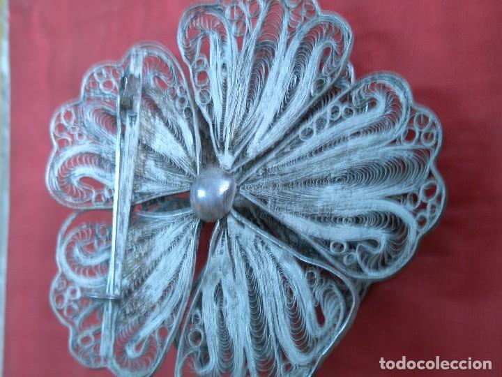 Joyeria: Broche floral de filigrana - Foto 3 - 87486104