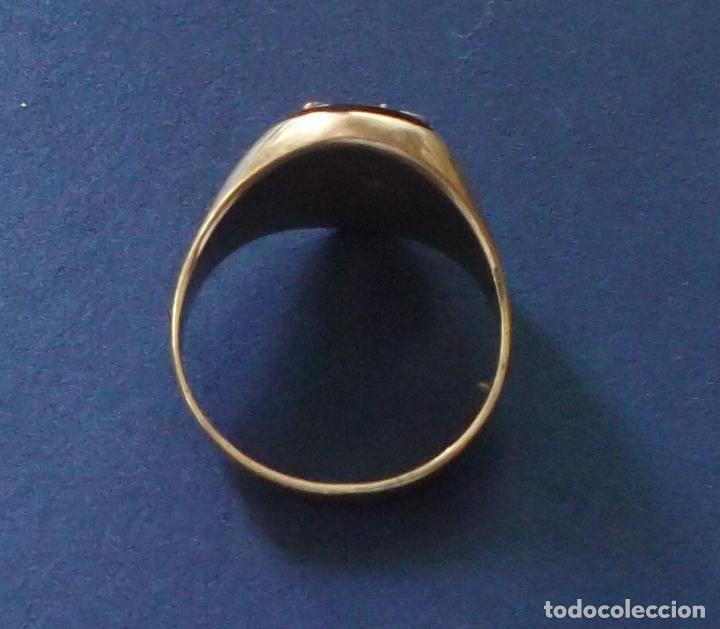 Joyeria: anillo oro fondo de onix letra M oro blanco y brillantes - Foto 3 - 89075068