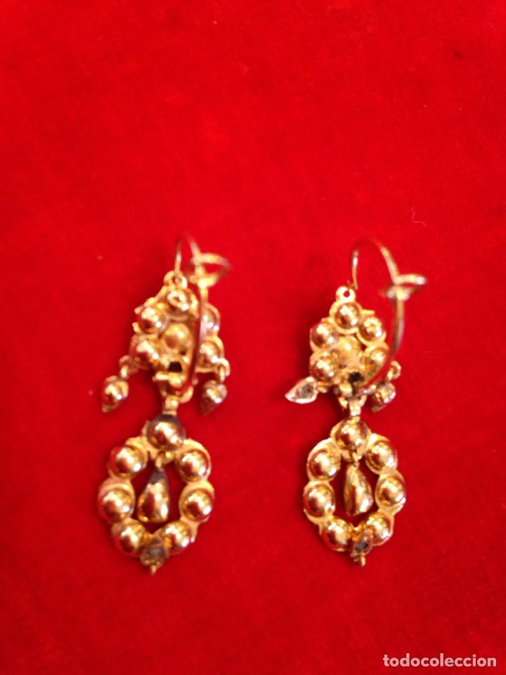 Joyeria: Juego oro 14K y esmeraldas del siglo XIX, anillo, pendientes del siglo XIX - Foto 8 - 64661967