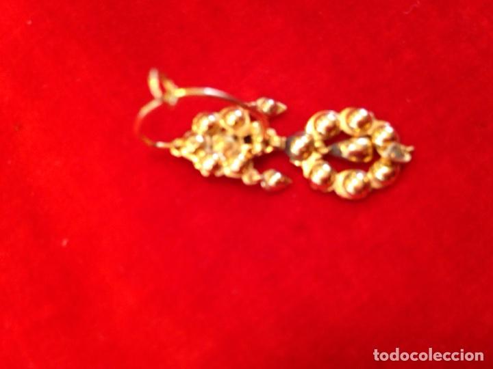 Joyeria: Juego oro 14K y esmeraldas del siglo XIX, anillo, pendientes del siglo XIX - Foto 9 - 64661967