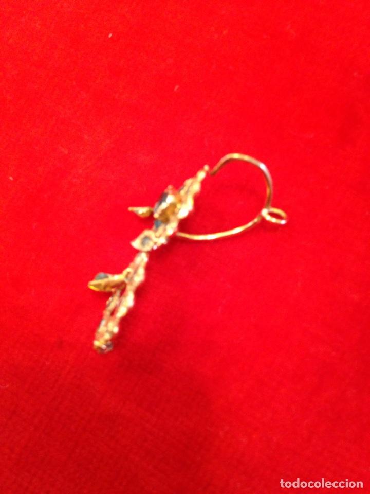 Joyeria: Juego oro 14K y esmeraldas del siglo XIX, anillo, pendientes del siglo XIX - Foto 10 - 64661967