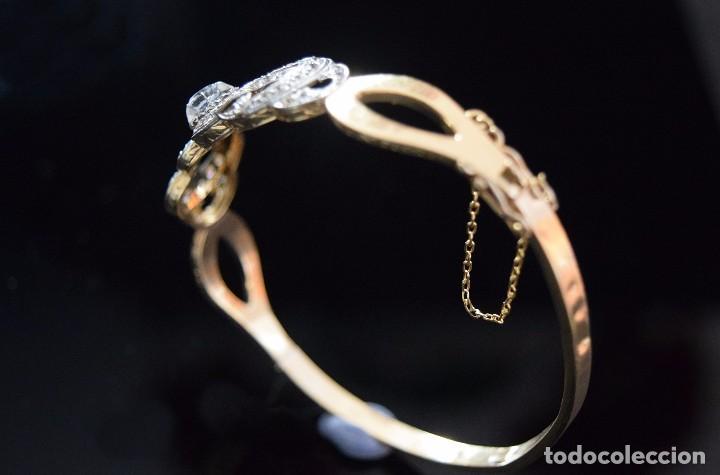 Joyeria: LIQUIDACION, Brazalete estilo modernista de Diamantes 0,20ct VS-H y zafiros en oro 18k - Foto 12 - 120425975