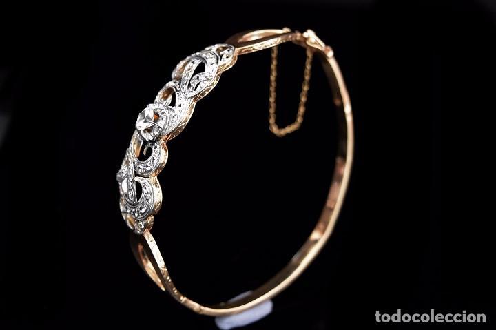 Joyeria: LIQUIDACION, Brazalete estilo modernista de Diamantes 0,20ct VS-H y zafiros en oro 18k - Foto 13 - 120425975