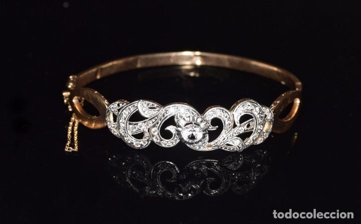 Joyeria: LIQUIDACION, Brazalete estilo modernista de Diamantes 0,20ct VS-H y zafiros en oro 18k - Foto 15 - 120425975