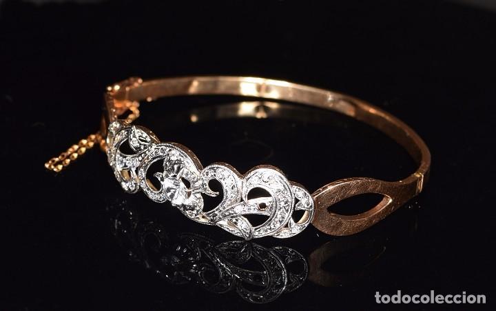 Joyeria: LIQUIDACION, Brazalete estilo modernista de Diamantes 0,20ct VS-H y zafiros en oro 18k - Foto 17 - 120425975
