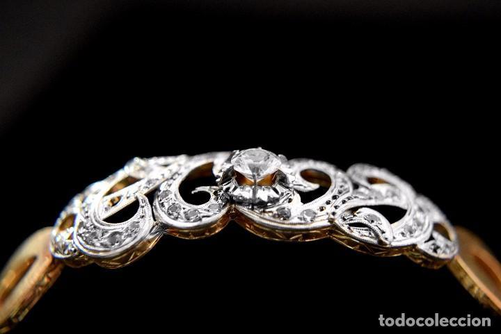 Joyeria: LIQUIDACION, Brazalete estilo modernista de Diamantes 0,20ct VS-H y zafiros en oro 18k - Foto 18 - 120425975