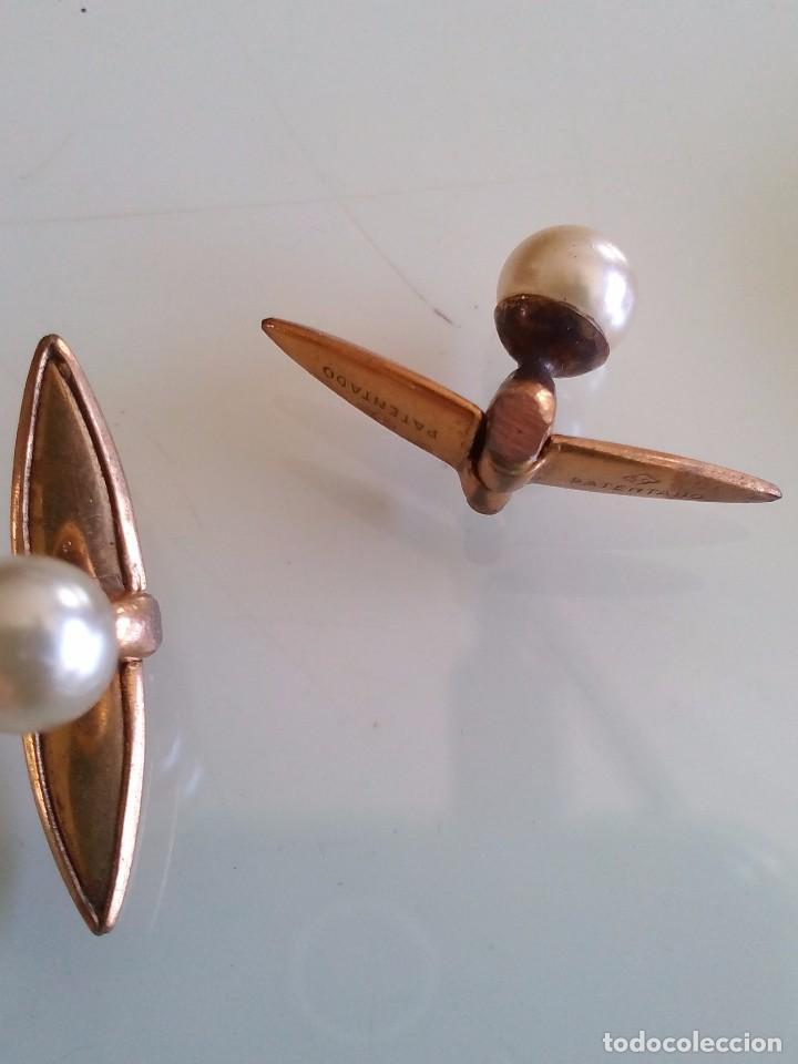 Joyeria: Antiguos gemelos dorados y perla - Foto 2 - 90041856