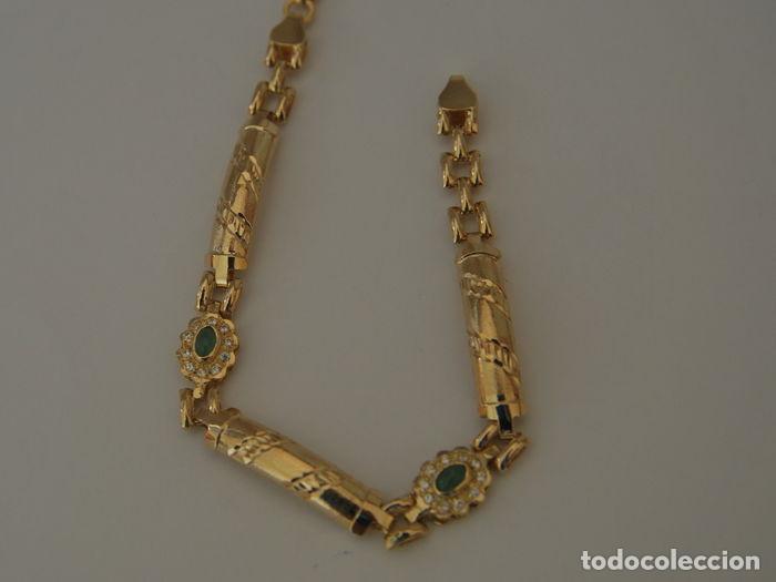 Joyeria: Pulsera de oro 18 kt.,con rosetas de Esmeraldas . - Foto 3 - 122953000