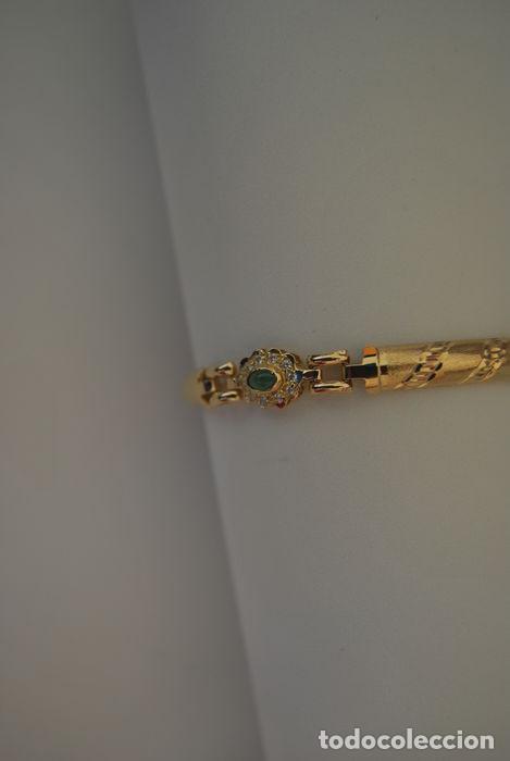 Joyeria: Pulsera de oro 18 kt.,con rosetas de Esmeraldas . - Foto 4 - 122953000