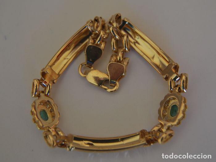 Joyeria: Pulsera de oro 18 kt.,con rosetas de Esmeraldas . - Foto 5 - 122953000