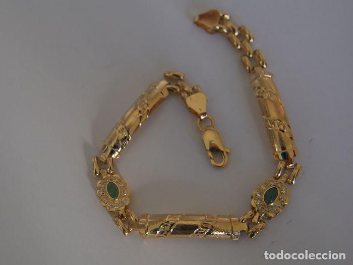 Joyeria: Pulsera de oro 18 kt.,con rosetas de Esmeraldas . - Foto 8 - 122953000