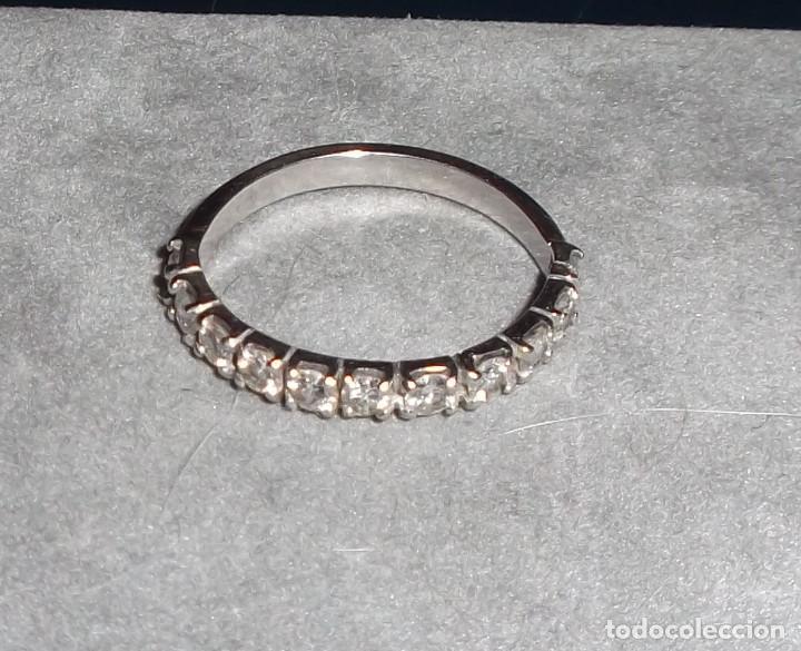 21816498985f anillo oro blanco y 11 brillantes - Comprar Anillos Antiguos en ...