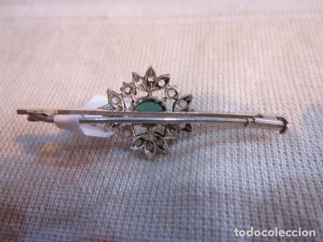 Joyeria: Broche alfiler, de metal plateado y cristales. 5 cms. - Foto 3 - 90960705