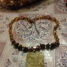 Joalheria: PRECIOSO COLLAR OJO DE TIGRE - AMBAR- JADE.. Lote 92750570