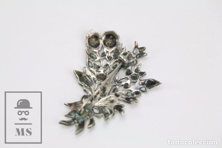 Joyeria: Broche de Plata Calada y Cristales Brillantes - Ramillete de Flores - Medidas 4,5 x 5,5 cm - Foto 3 - 92779595