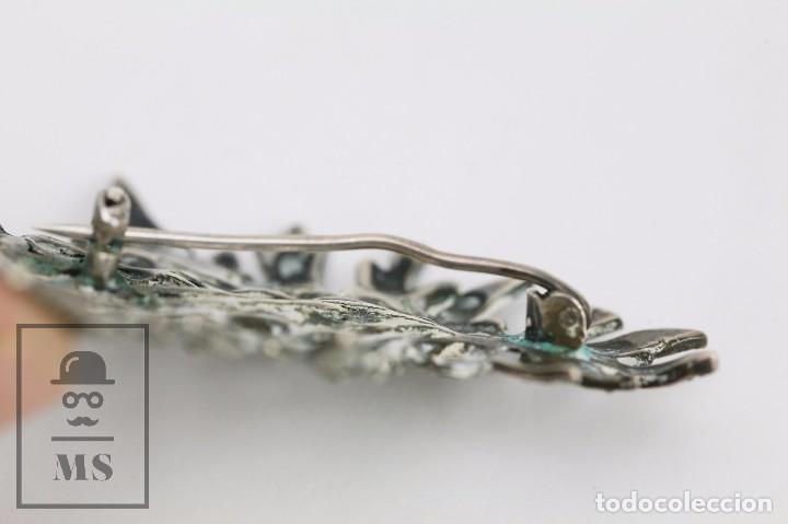 Joyeria: Broche de Plata Calada y Cristales Brillantes - Ramillete de Flores - Medidas 4,5 x 5,5 cm - Foto 4 - 92779595