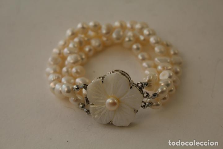 Joyeria: pulsera tres vueltas con perlas cultivadas - Foto 2 - 100019938