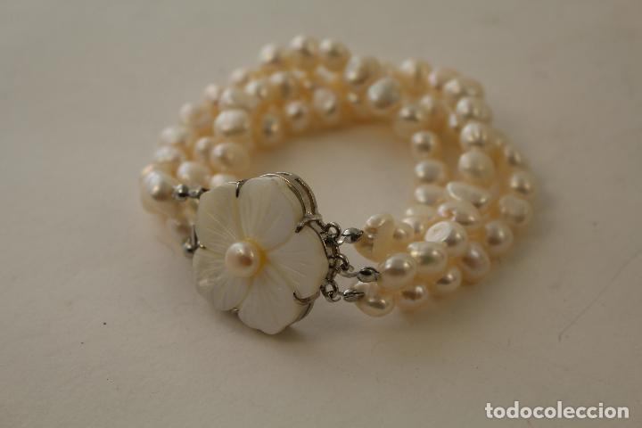 Joyeria: pulsera tres vueltas con perlas cultivadas - Foto 3 - 100019938