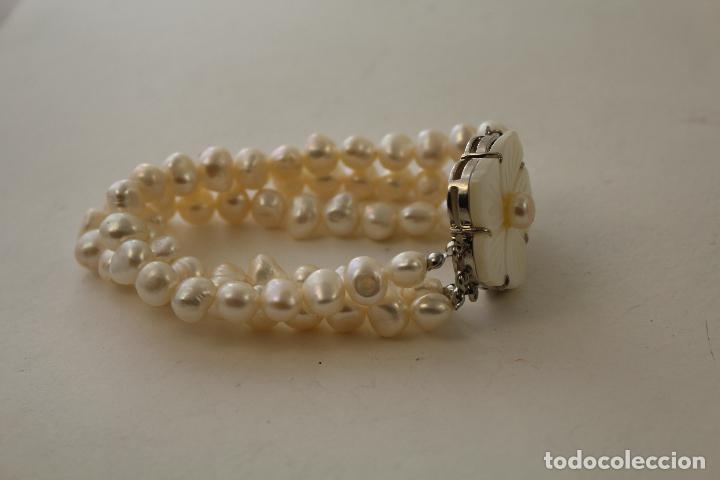 Joyeria: pulsera tres vueltas con perlas cultivadas - Foto 5 - 100019938