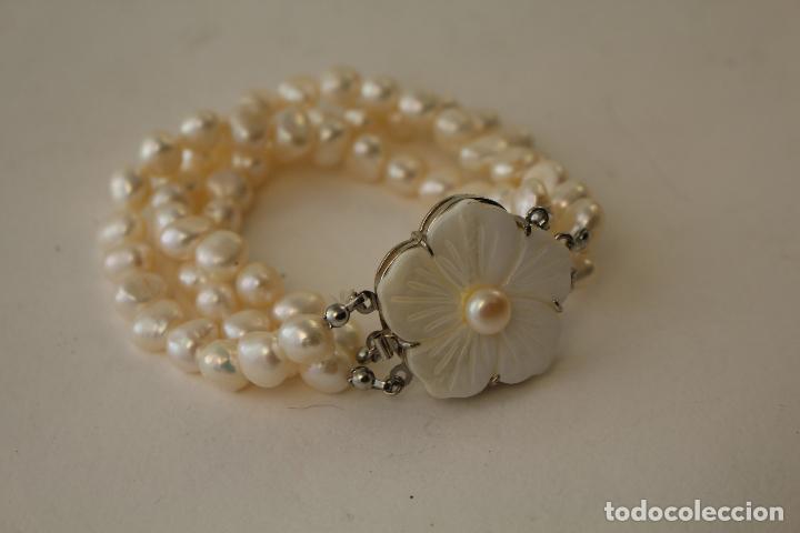 Joyeria: pulsera tres vueltas con perlas cultivadas - Foto 10 - 100019938