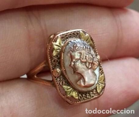 Joyeria: Anillo Camafeo de Oro Art Nouveau c.1900 - Foto 2 - 94483158