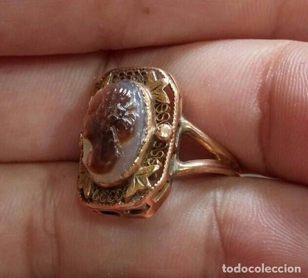 Joyeria: Anillo Camafeo de Oro Art Nouveau c.1900 - Foto 3 - 94483158
