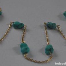 Schmuck - Collar tipo Gargantilla de oro de 18 K y Turquesas naturales - 94592439