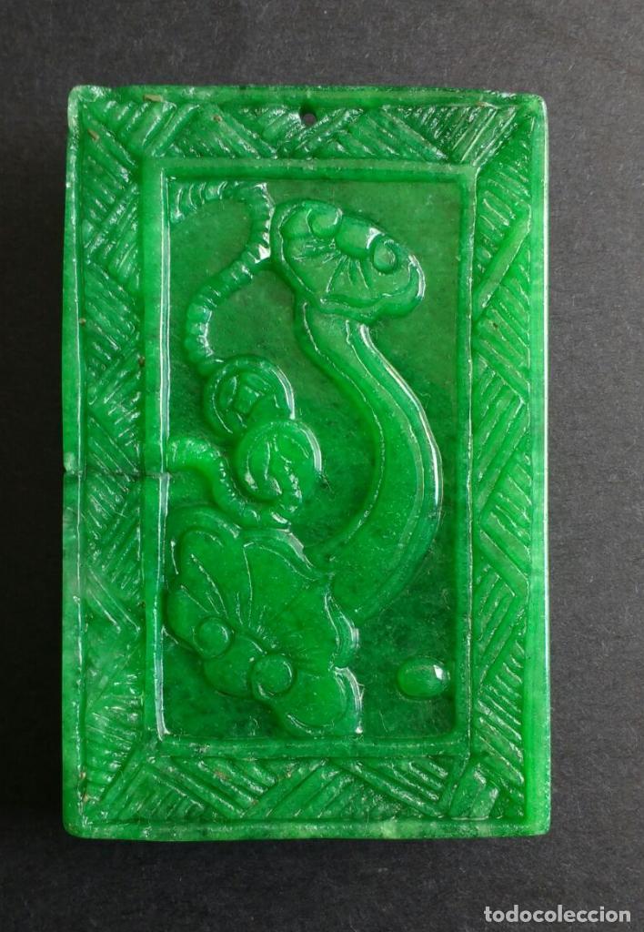 Joyeria: Colgante de jade natural. - Foto 2 - 94949803