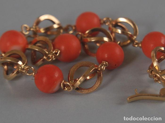 Joyeria: Pulsera de oro de 18 quilates y coral 100% natural del Mediterráneo. - Foto 8 - 94958463
