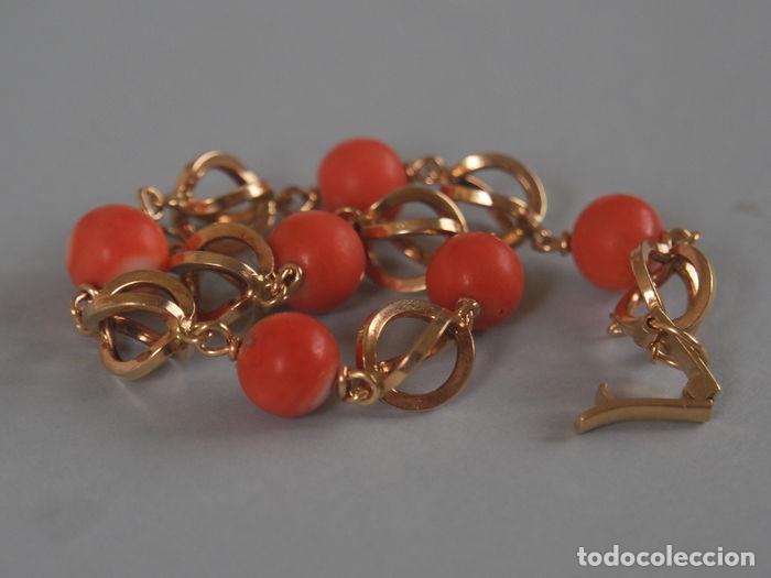 Joyeria: Pulsera de oro de 18 quilates y coral 100% natural del Mediterráneo. - Foto 9 - 94958463